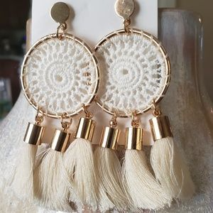 Large Dream Catcher Tassel Earrings